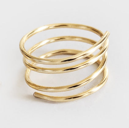 Swirl | Gold Ring