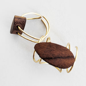 Triple | Gold Wood Ring