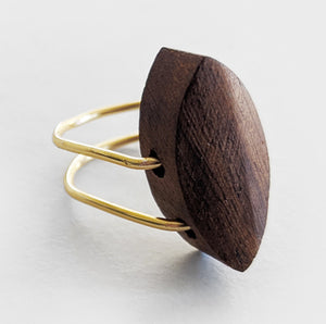 Solo | Gold Wood Ring