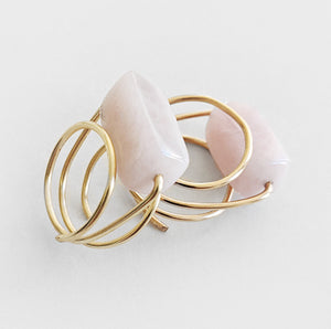Rose Quartz | Gold Ring