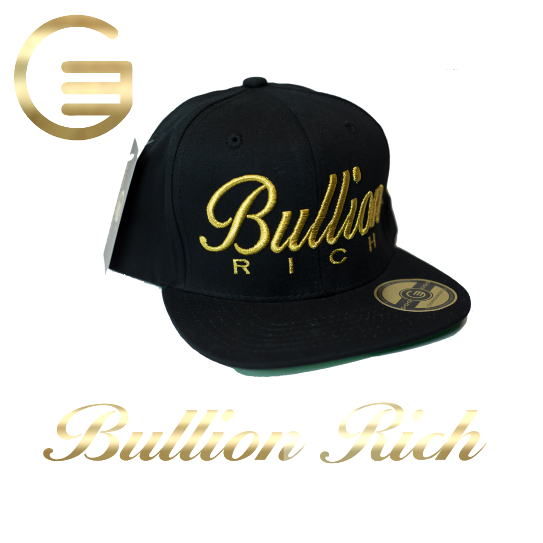 Bullion Rich Gold On Black Snapback