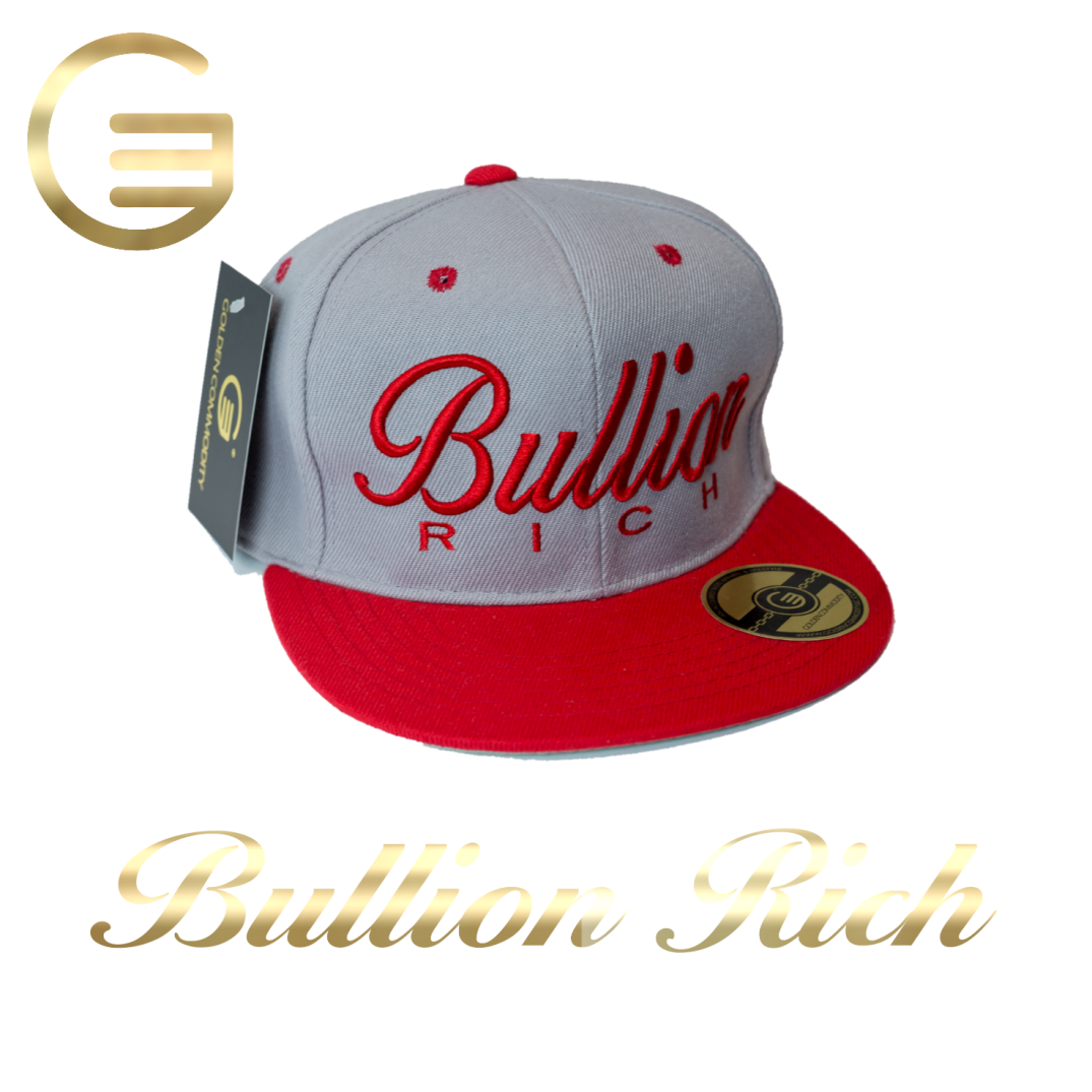 Bullion Rich Red On Gray Snapback