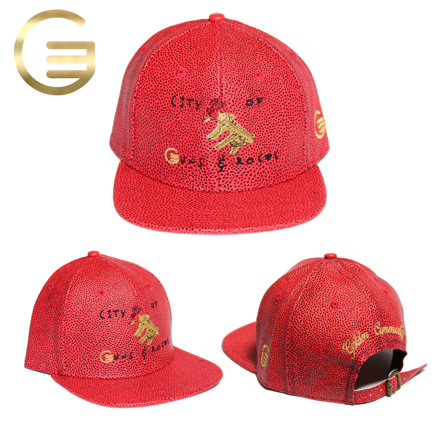 City Of Guns & Roses Collection Red Basketball Hat