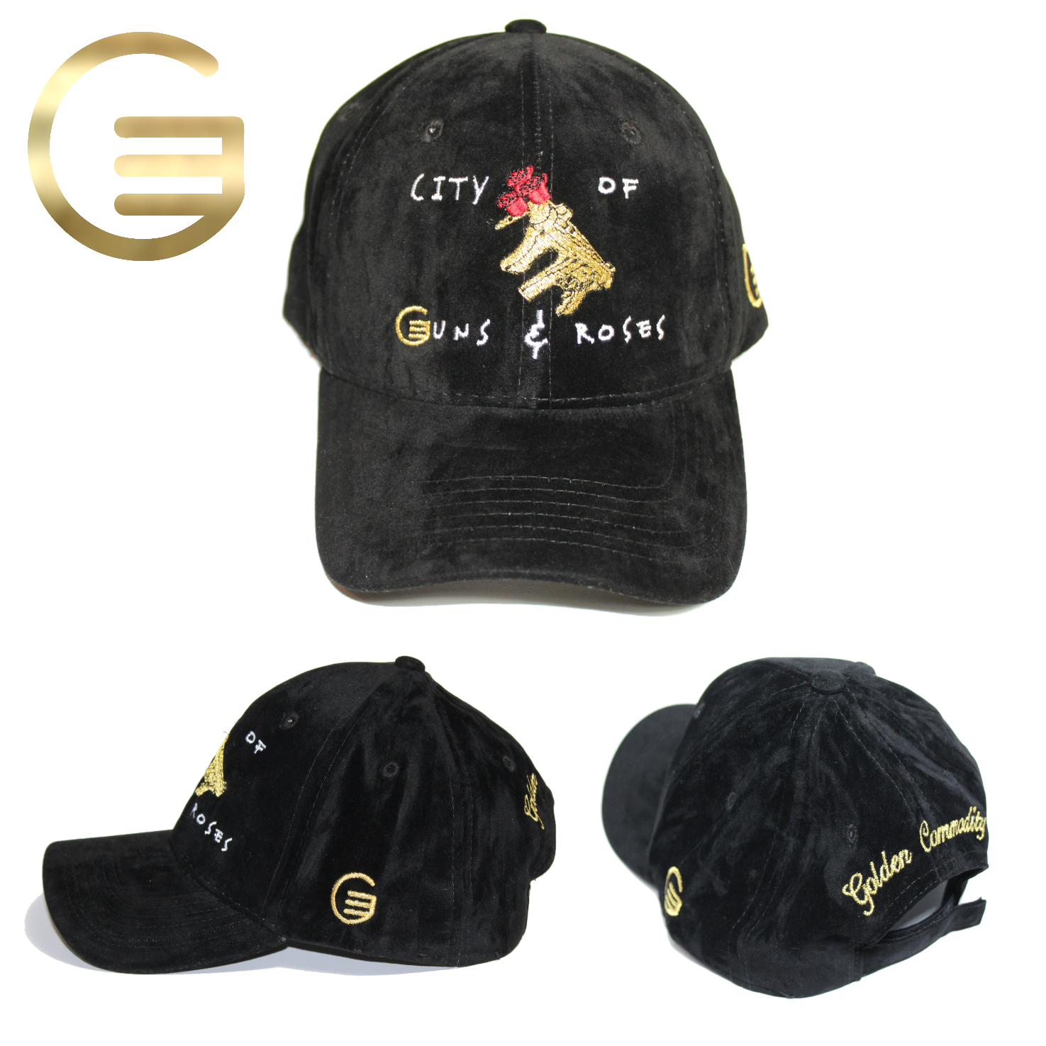 City Of Guns & Roses Collection Black Velvet Hat