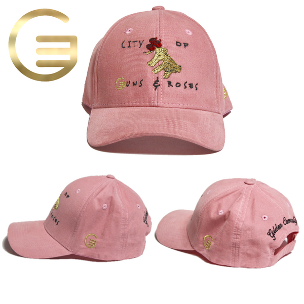 City Of Guns & Roses Collection Pink Corduroy Hat