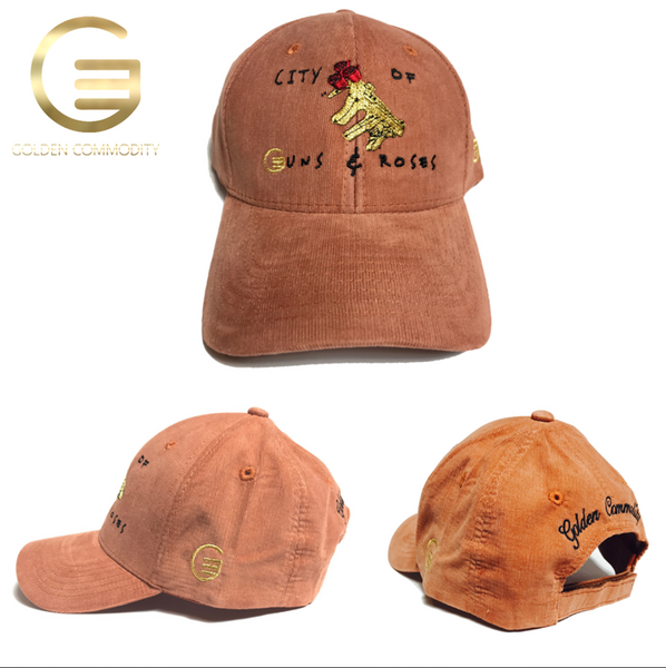 "City Of Guns & Roses"" Collection Brick Corduroy Hat"
