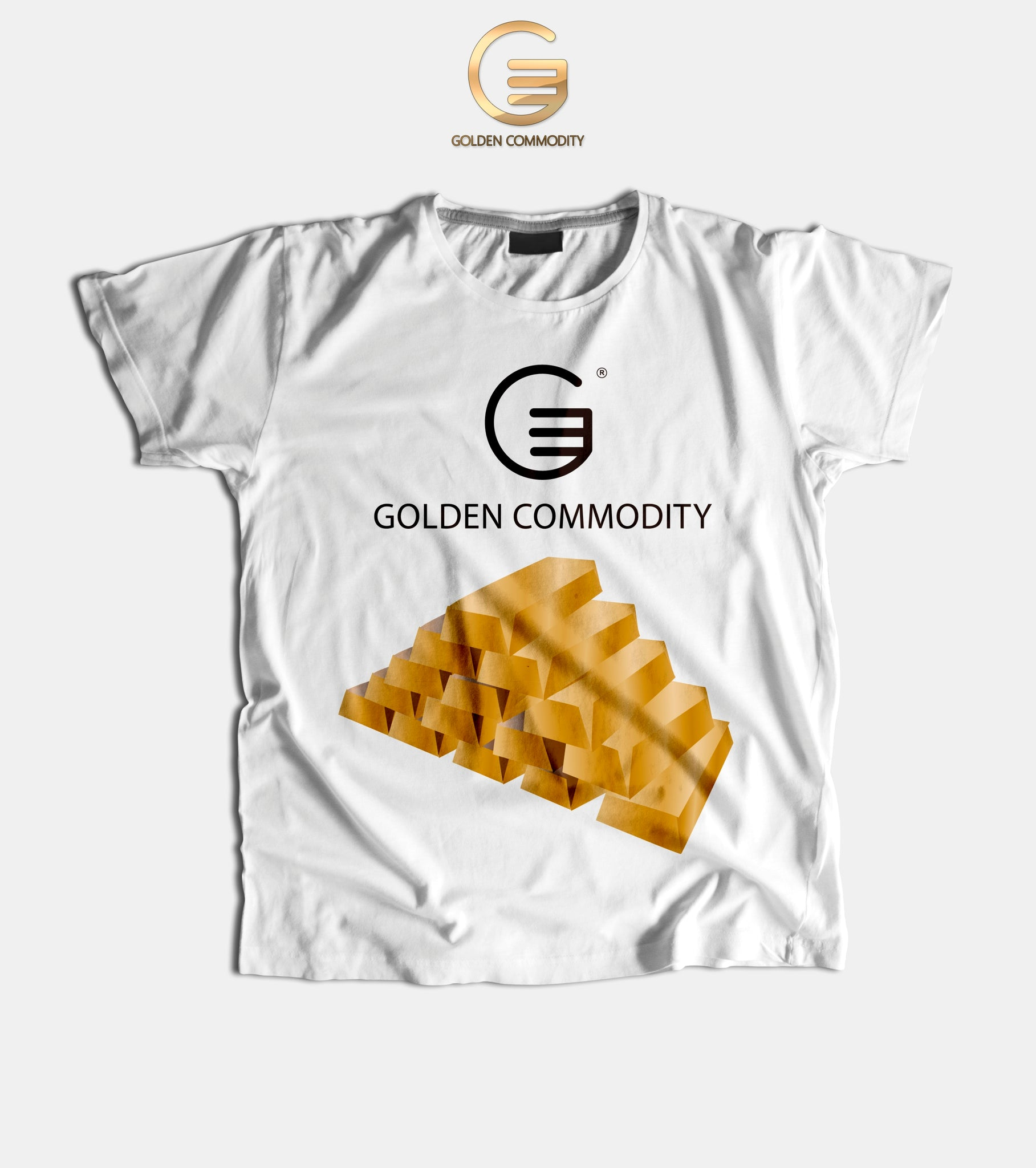 Golden Commodity Bullion Bars Men's T-Shirts