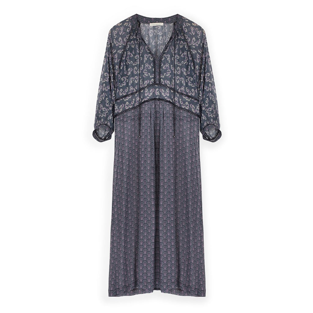 Liberty Dress in Original Navy Prints