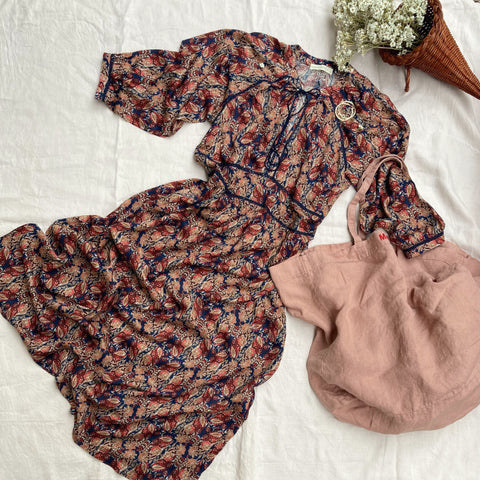 LIBERTY DRESS in autumnal print (for pre-order)