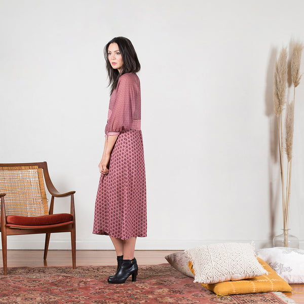 The Liberty Dress in Mulberry