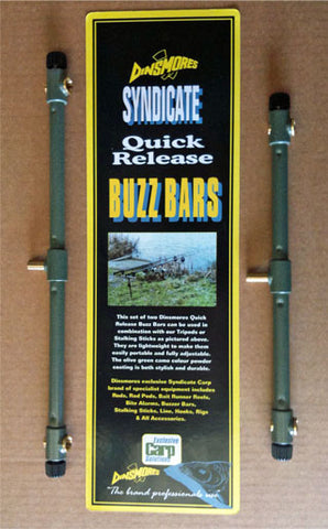 Dinsmores Syndicate Quick Release Buzzer Bars - 2 Rod (Pair)