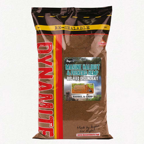 Dynamite Baits 2kg Marine Halibut & Frenzied Hemp 'Big Feed Groundbait'