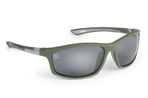 Fox Polarised Sunglasses - Green & Silver