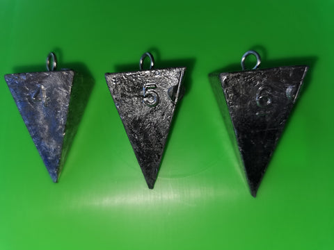 Lead Fishing Weights - Pyramid Cone