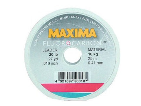 Maxima Fluorocarbon Leader Tippet 25m