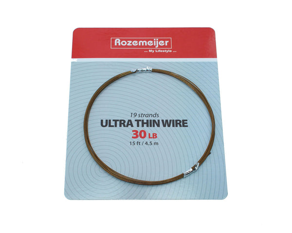Rozemeijer Ultra Thin Wire 1×19 Strand 30lb-15ft / 4.5m