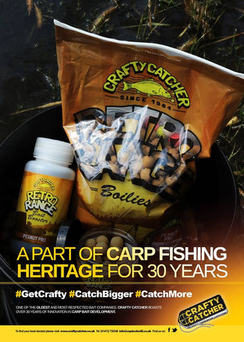 Crafty Catcher Retro Range Boilies - Peanut Pro