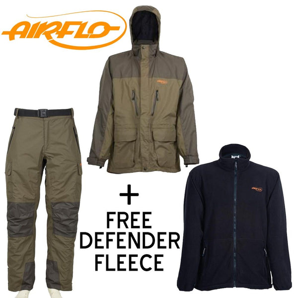 Airflo Defender 3/4 Lenght Combo Offer + Free Defender Fleece