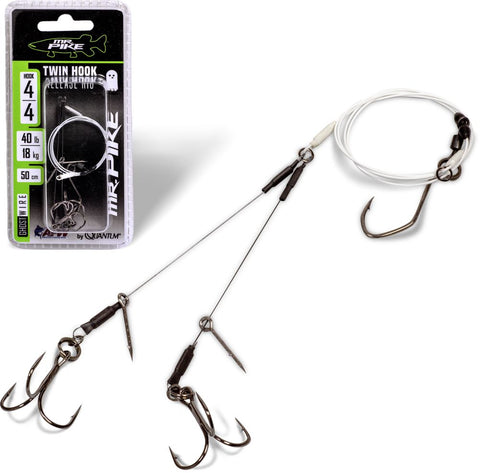 Quantum Mr. Pike Ghost Traces Twin Hook Release Rig