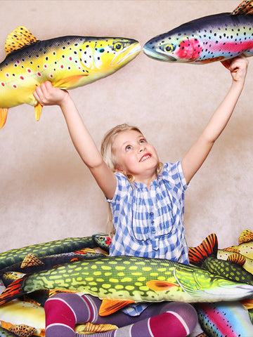 Gaby Novelty Fish Pillows