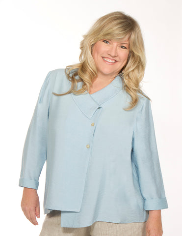 Sky Blue Asymmetric Top