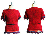 Island Knit Skirt Set with Hand Crocheted Trim