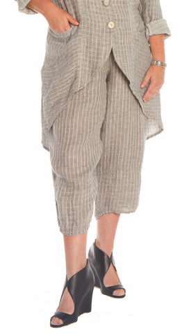 European Linen Gray Pants