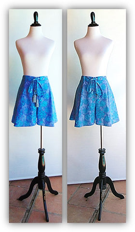 Batik Tap Shorts With Tassels