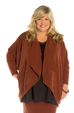 Copper Cardigan Sweater