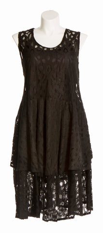 Black Laced Tier Dress