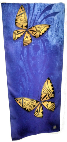 Acoma Silk Scarves With Butterflies