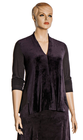 Royal Purple Velvet Top