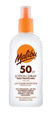 Malibu Sun Protection SPF50 Lotion Spray - 200ml