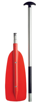 Two Piece Red Canoe Paddle