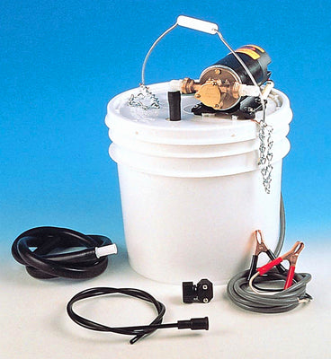 Lubricating oil-change pump kit with pipes, battery clips & switch - 12 volt d.c. (17800-2000)
