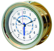 "Capstan Tide Clock 4"" - brass"