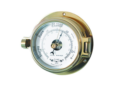Channel Range Barometer - Brass