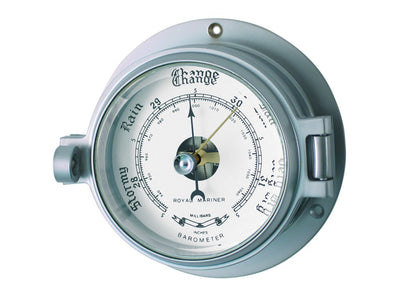 Channel Range Barometer - Matt Chrome Colour