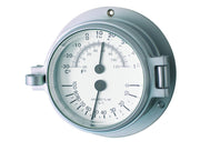 Channel Range Thermometer Hygrometer - Matt Chrome Colour