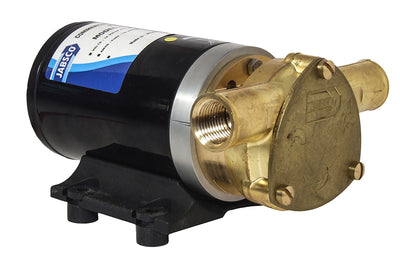 "'Water Puppy' self-priming pump 12 volt d.c. Connections for 25mm (1"") bore hose or use ½"" hose adapters - Jabsco 23680-4003"