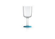 Non slip Wine Glass, vivid blue, designed by Marc Newson - Pack of 4