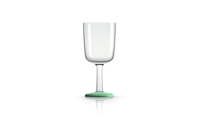 Non slip Wine Glass, pale green (glow in the dark), designed by Marc Newson - Pack of 4