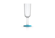 Non slip Champagne Flute, vivid blue, designed by Marc Newson - Pack of 4