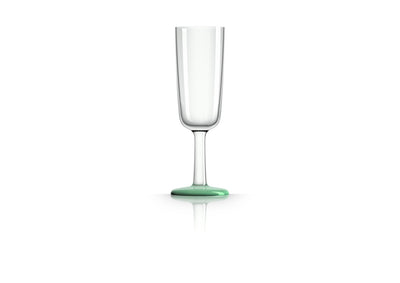 Non slip Champagne Flute, pale green (glow in the dark), designed by Marc Newson - Pack of 4