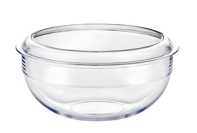 Large Clear Salad bowl & lid