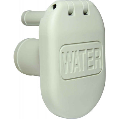 Perko 1319 Water Deck Filler (38mm Straight Neck / 16mm Vent / White)  305543