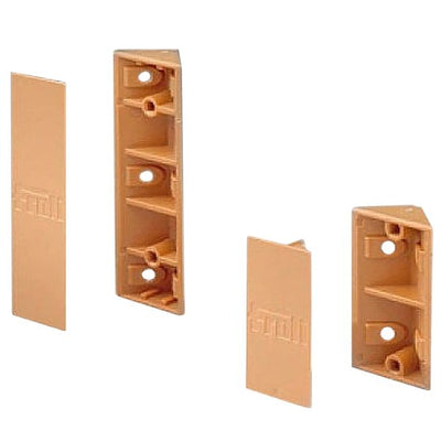 Corner Bracket 6Pc Brown Small - 41970