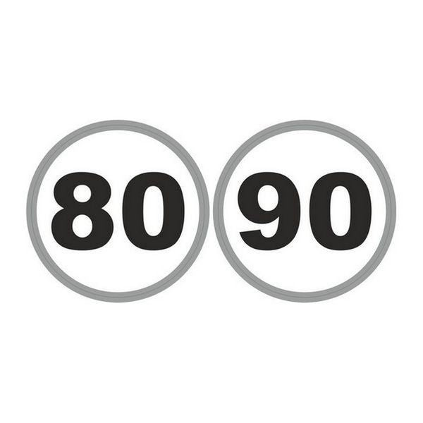 French Speed Limit Stickers 80/90kmh - 37130