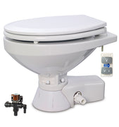 QUIET FLUSH ELECTRIC TOILET Fresh water flush models, Regular bowl size, 24 volt dc -  Jabsco - 37045-4094