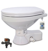 QUIET FLUSH ELECTRIC TOILET Fresh water flush models, Regular bowl size, 24 volt dc - with Soft Close seat and cover Jabsco - 37045-4194